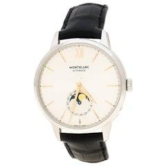 Montblanc Silver White Stainless Steel Heritage Spirit 111620 Men's Wristwatch 4