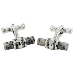 Montblanc Soulmaker Limited Edition 925 Sterling Silver, Granite Cufflinks