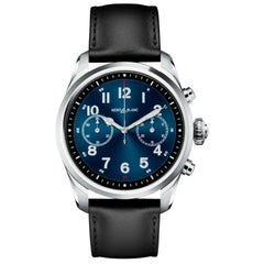 MontBlanc Summit 2 Stainless Steel and Leather Watch 119440