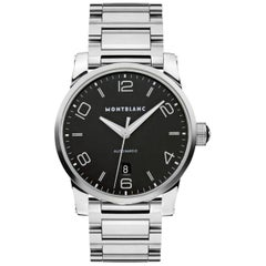 Montblanc Timewalker Automatic Black Dial Stainless Steel Men's Watch 105962