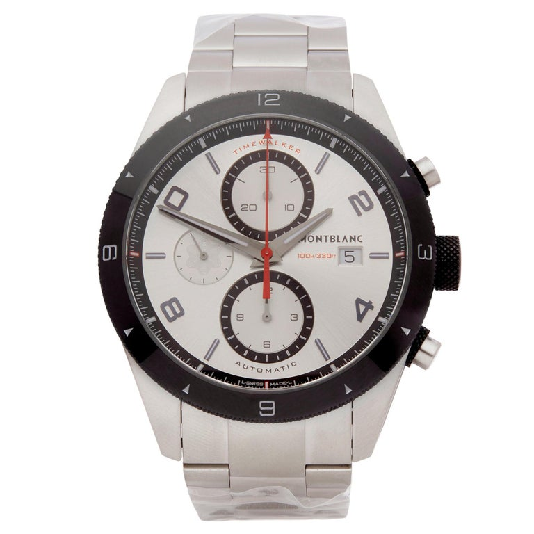 Montblanc Timewalker Chronograph Stainless Steel 116099 For Sale