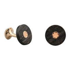 Montblanc Wood and 18k Rose Gold Cufflinks