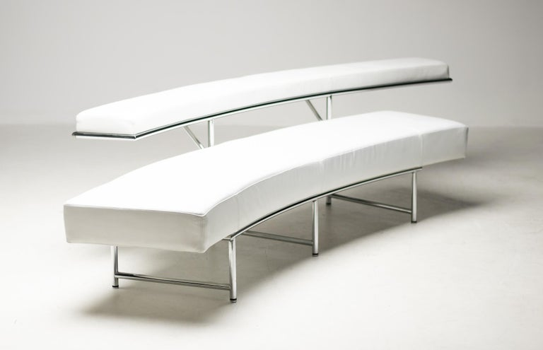 Monte Carlo Sofa in White Leather by Eileen Gray For Sale 5