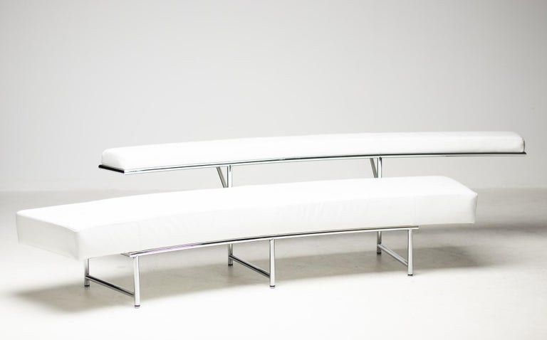 Monte Carlo Sofa in White Leather by Eileen Gray For Sale 6