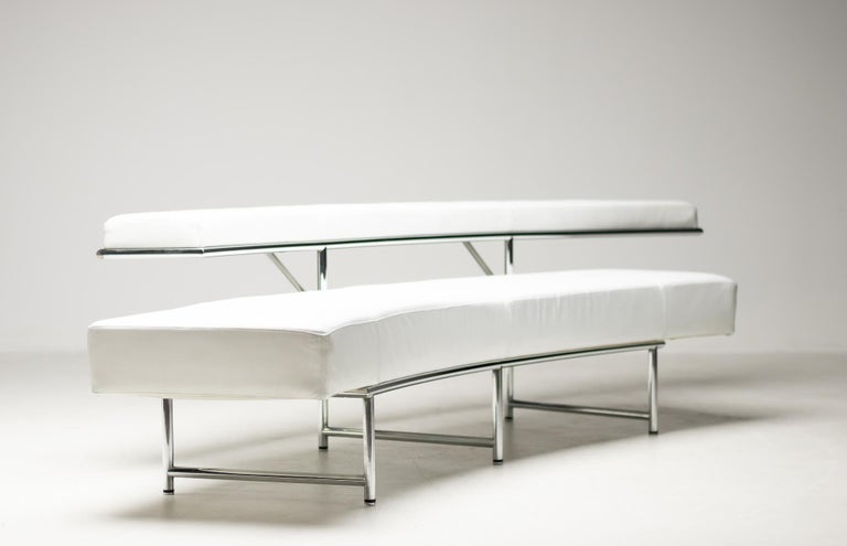 Monte Carlo Sofa in White Leather by Eileen Gray For Sale 7
