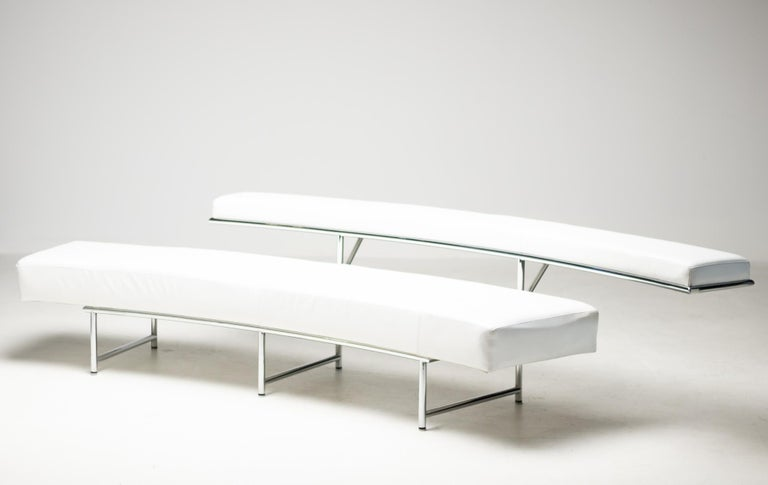 Mid-Century Modern Monte Carlo Sofa in White Leather by Eileen Gray For Sale