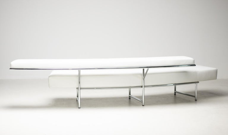 Monte Carlo Sofa in White Leather by Eileen Gray For Sale 3