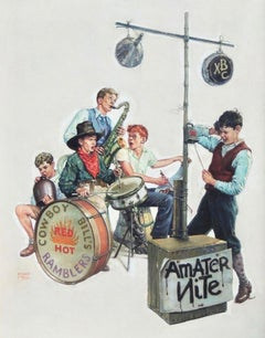 Amateur Nite - Cowboy Bill's Ramblers, The Saturday Evening Post cover, Jan