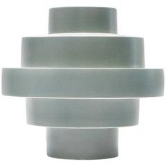 Montèe Solid Ceramic Vase in Sage Green by Simona Cardinetti, Handmade in Italy