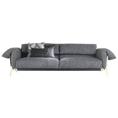 Montego 3-Seat Sofa in Leather by Roberto Cavalli