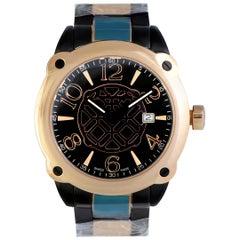 Montegrappa Fortuna Black and Gold Watch IDOMWARL