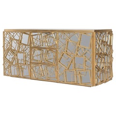 Monterey Credenza in Gold Leaf by Badgley Mischka Home