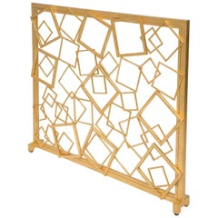 Monterey Fire Screen in Gold Leaf by Innova Luxuxy Group