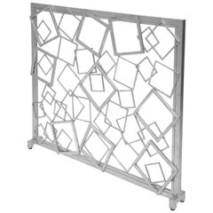 Monterey Fire Screen in Silver Leaf by Innova Luxuxy Group