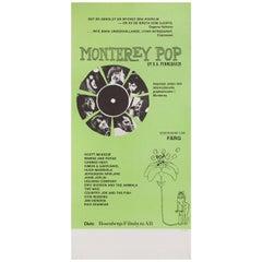 'Monterey Pop' R1978 Swedish Stolpe Film Poster