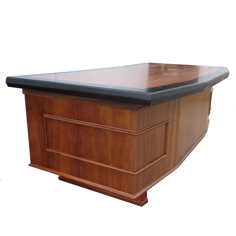 Walnut Monteverdi Young Executive Desk by Maurice Bailey For Sale