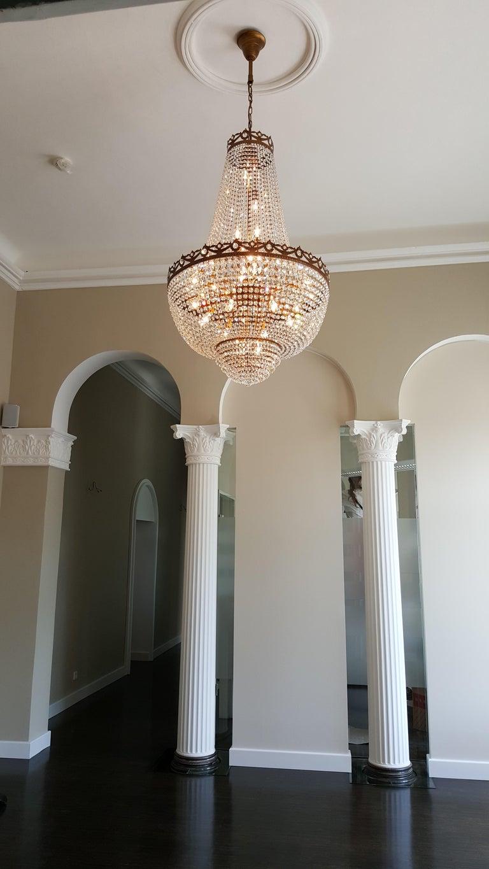 Montgolfiè Antique Lok Crystal Chandelier Empire Sac a Pearl Lamp Chateau Lustre For Sale 1