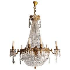 Montgolfiè Empire Sac a Pearl Chandelier Crystal Lustre Ceiling Lamp Antique