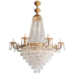Montgolfiè Empire Sac a Pearl Chandelier Crystal Lustre Ceiling Lamp Antique
