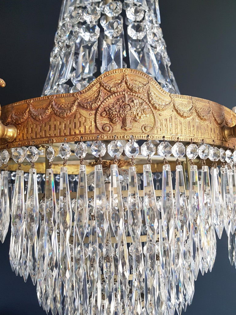 Montgolfiè Empire Sac a Pearl Chandelier Crystal Lustre Ceiling Lamp Antique WoW For Sale 4