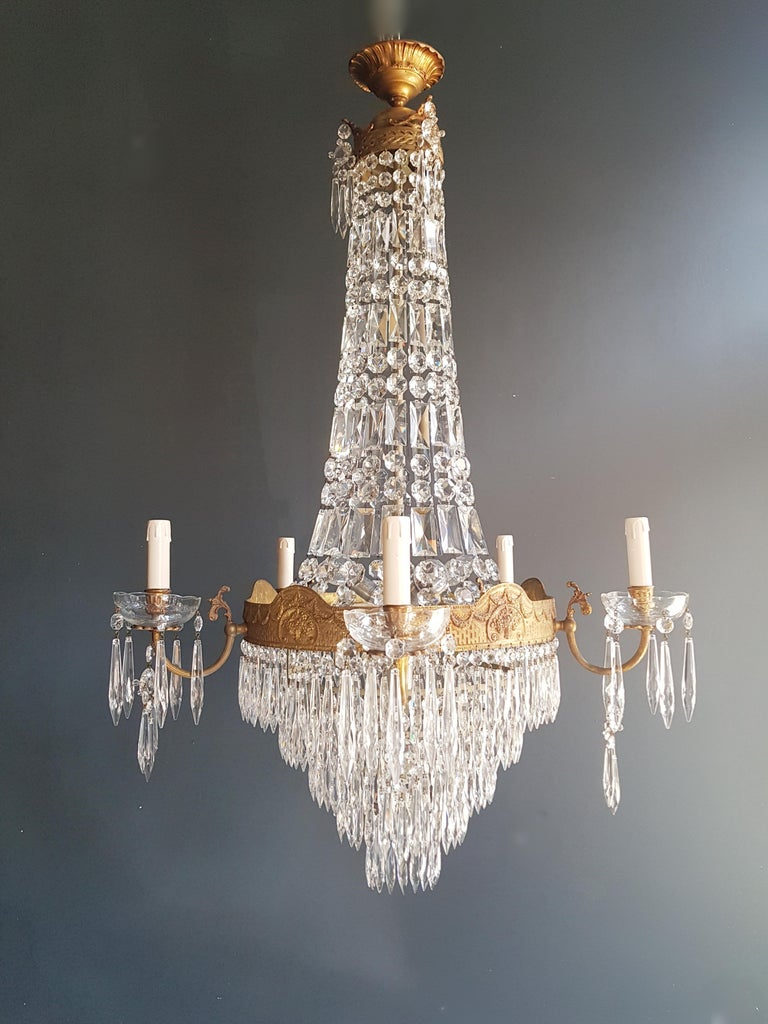 Montgolfiè Empire Sac a Pearl Chandelier Crystal Lustre Ceiling Lamp Antique WoW For Sale 5