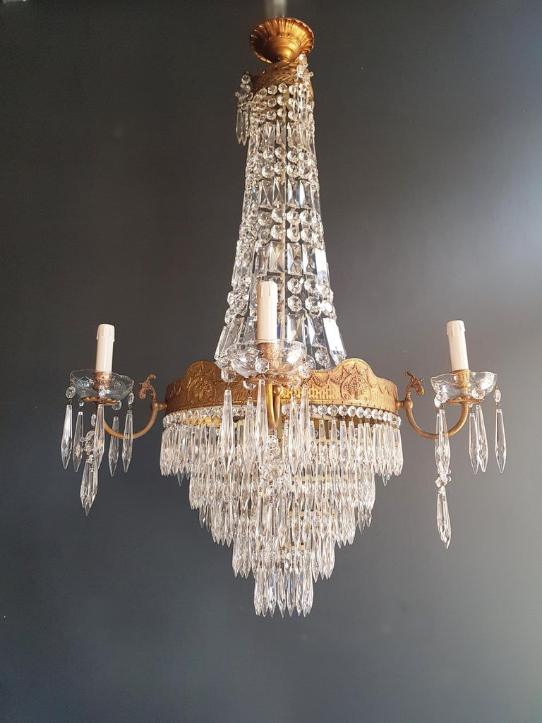 Montgolfiè Empire Sac a Pearl Chandelier Crystal Lustre Ceiling Lamp Antique WoW For Sale 6
