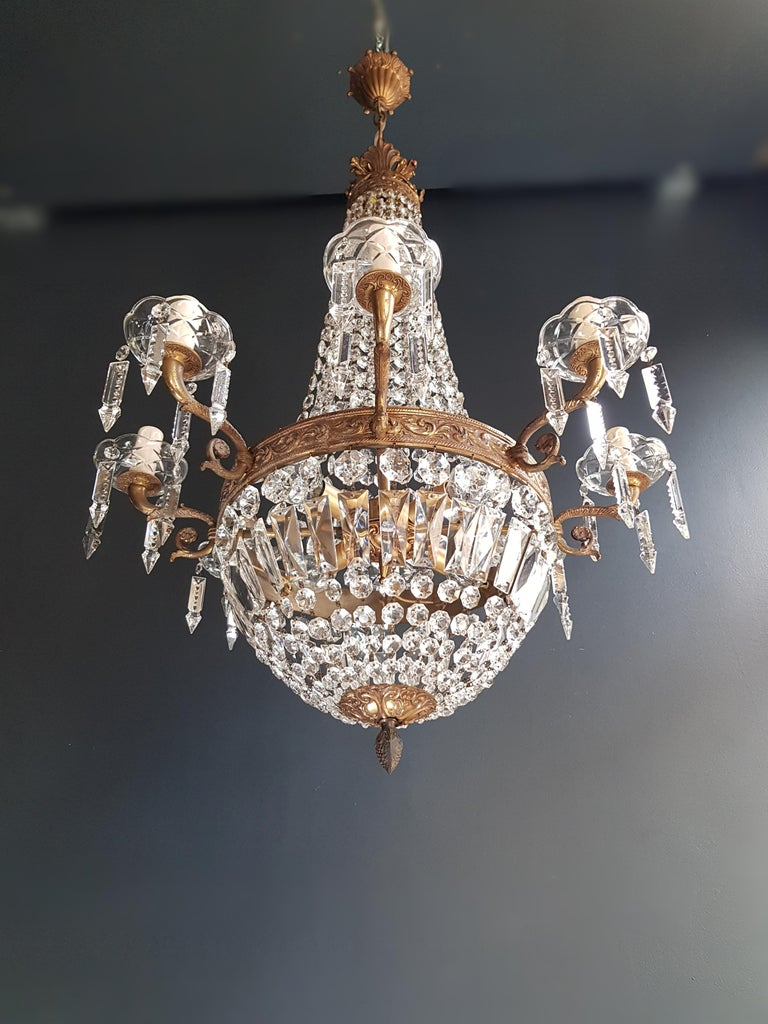 Montgolfiè Empire Sac a Pearl Chandelier Crystal Lustre Ceiling Lamp Antique WoW For Sale 1