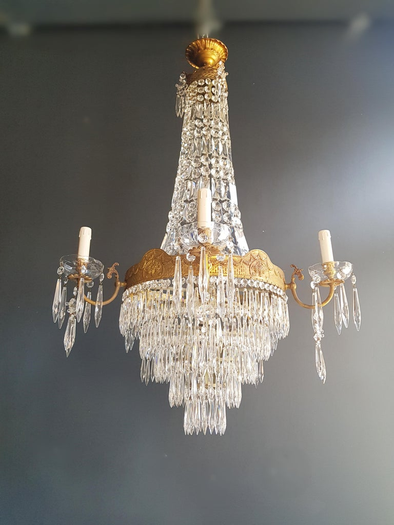Montgolfiè Empire Sac a Pearl Chandelier Crystal Lustre Ceiling Lamp Antique WoW For Sale 2