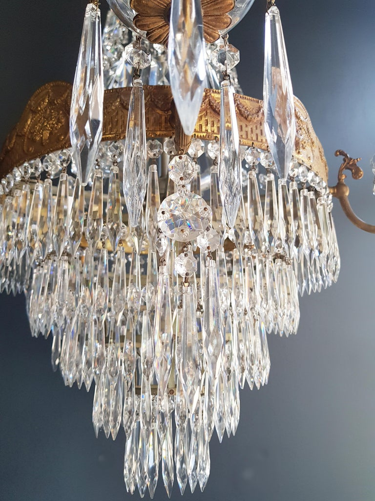 Montgolfiè Empire Sac a Pearl Chandelier Crystal Lustre Ceiling Lamp Antique WoW For Sale 3