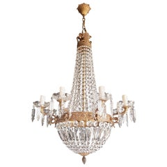 Montgolfiè Empire Sac a Pearl Chandelier Crystal Lustre Ceiling Lamp Antique WoW