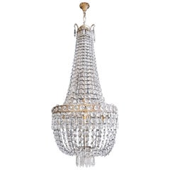 Montgolfièr Empire Sac a Pearl Chandelier Crystal Ceiling Lamp Pendant Lighting