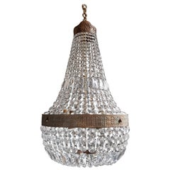 Montgolfièr Empire Sac a Pearl Chandelier Crystal Lustre Ceiling Lamp