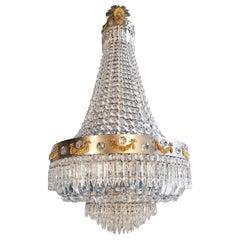 Montgolfièr Empire Sac a Pearl Chandelier Crystal Lustre Ceiling Lamp Art Novena