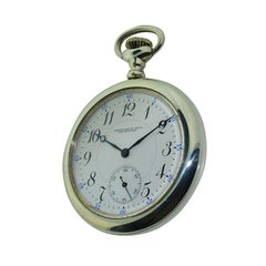 Montgomery Bros. Los Angeles Sterling Pocket Watch circa 1910 New Condition