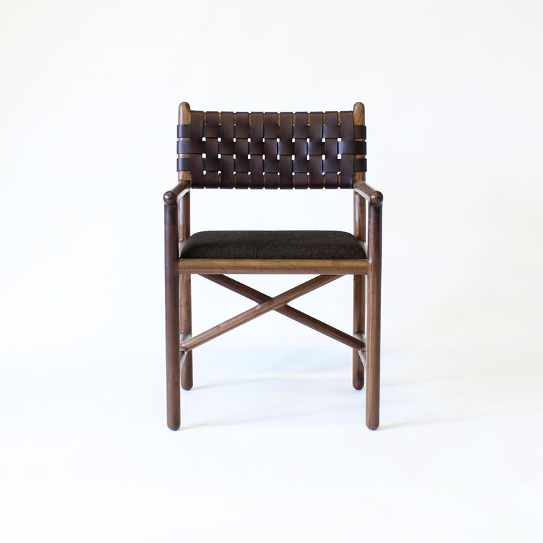 Blackened Montgomery Modern Armchair Dinning Chair For Sale
