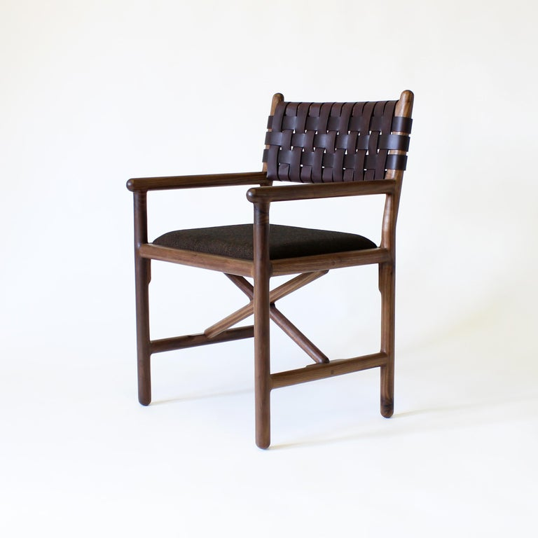 Contemporary Montgomery Modern Armchair Dinning Chair For Sale