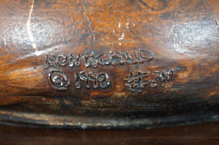 Monticello Studio Primitive Faux Wood Trophy Urn Table Lamps Rustic Lodge For Sale 7