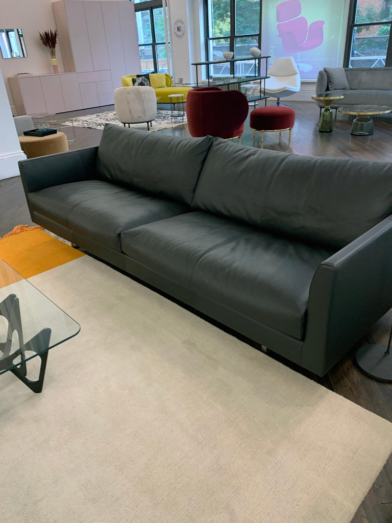 Montis Axel Black Leather Sofa For Sale 6