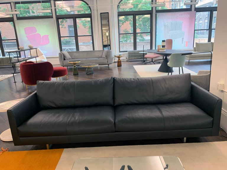 Montis Axel Black Leather Sofa For Sale 1