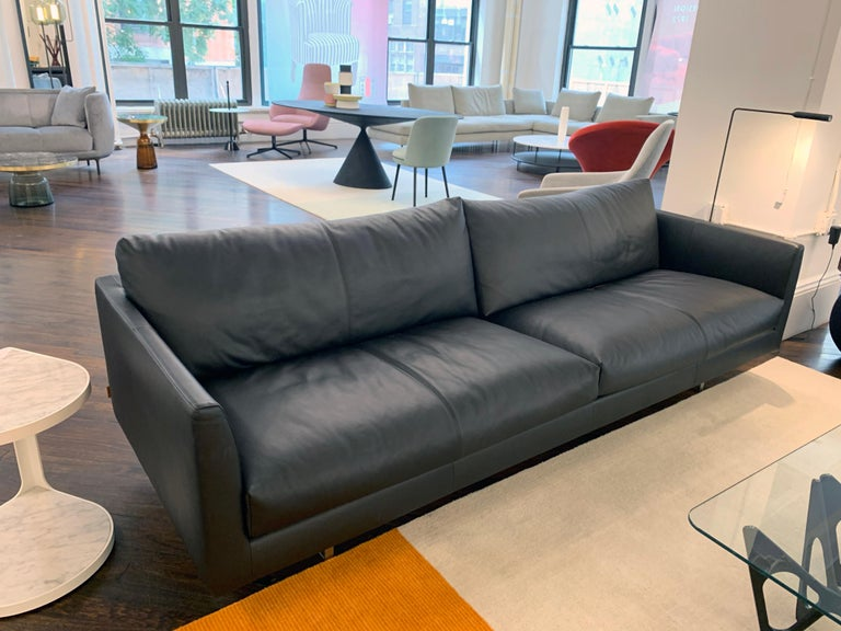Montis Axel Black Leather Sofa For Sale 2