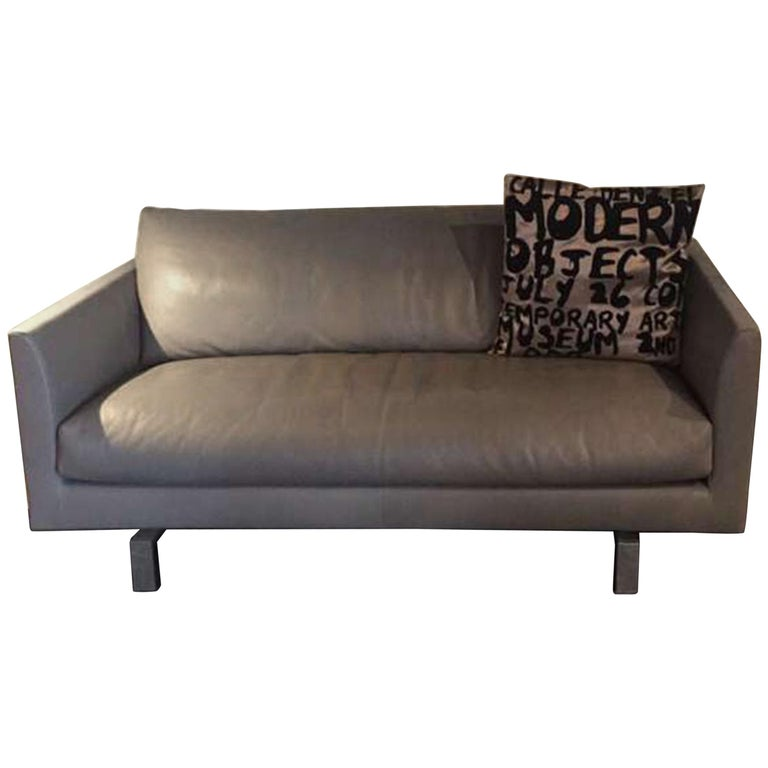Leather Loveseat For Sale: Montis Axel Leather Loveseat For Sale At 1stdibs
