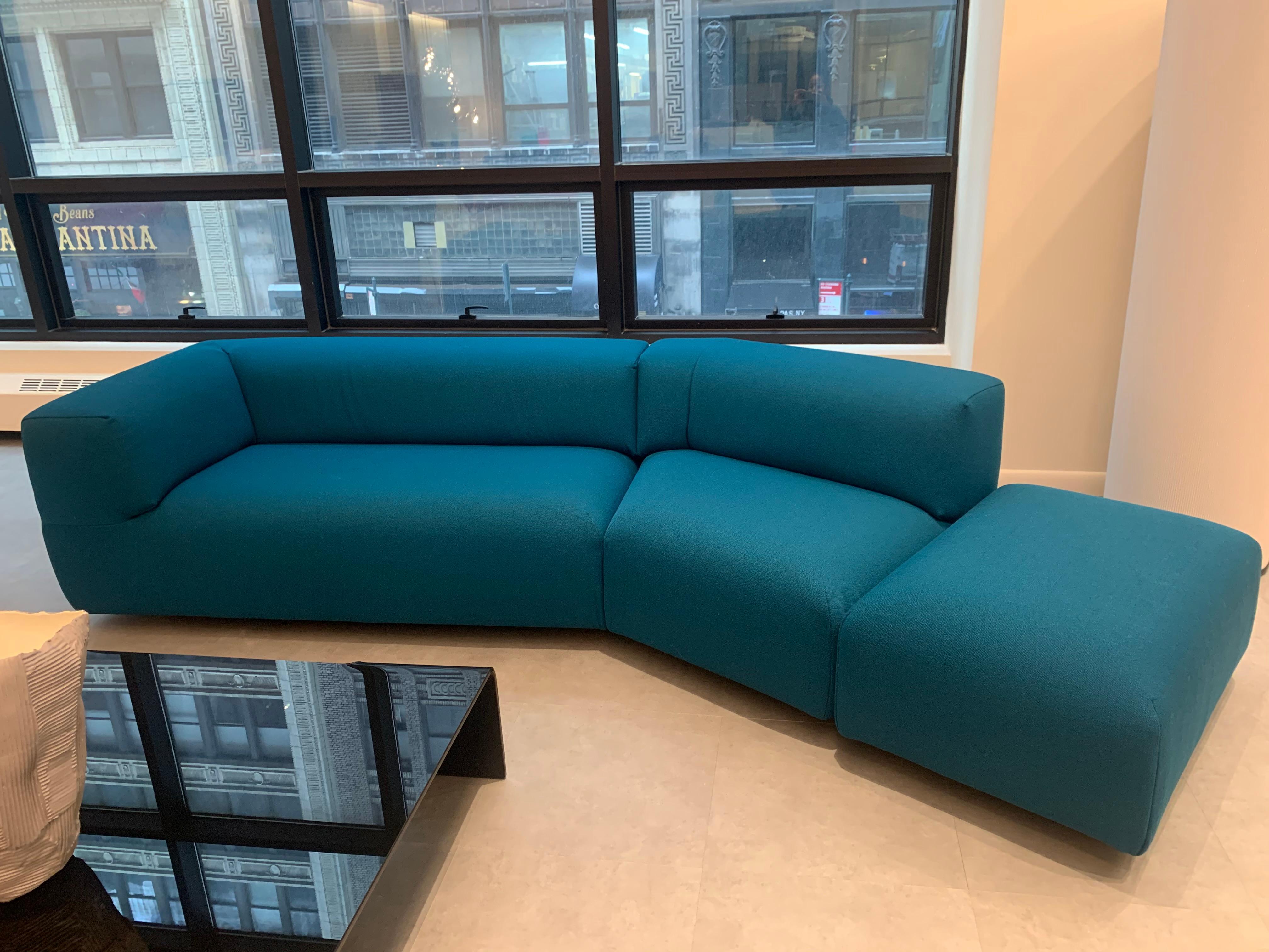 Montis Aztec 2.5-Seat Sofa Upholstered in Raf Simons Fabric