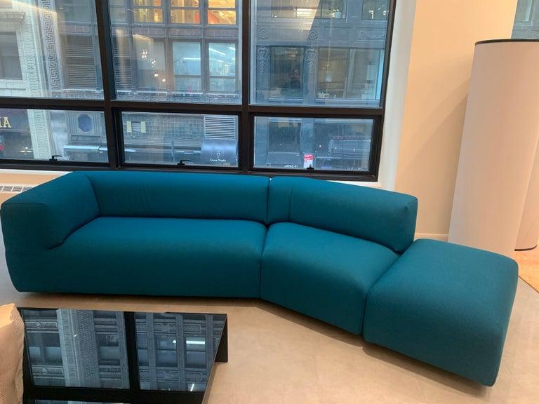 Modern Montis Aztec 2.5-Seat Sofa Upholstered in Raf Simons Fabric