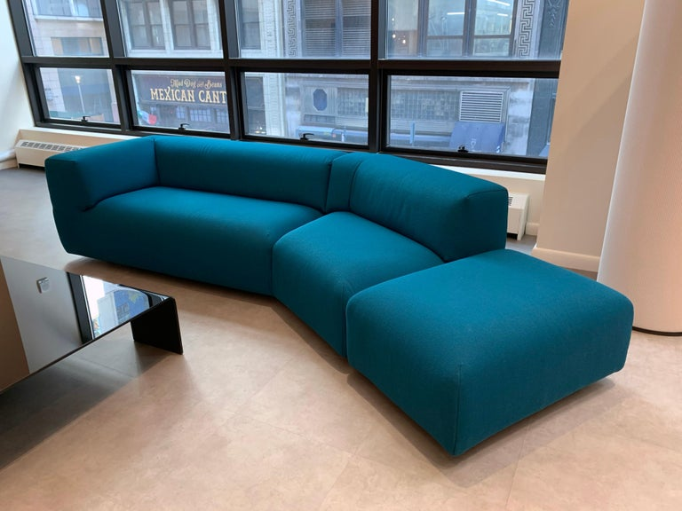 Montis Aztec 2.5-Seat Sofa Upholstered in Raf Simons Fabric In Excellent Condition In New York, NY