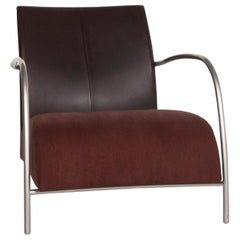 Montis Fabric Leather Armchair Brown Dark Brown