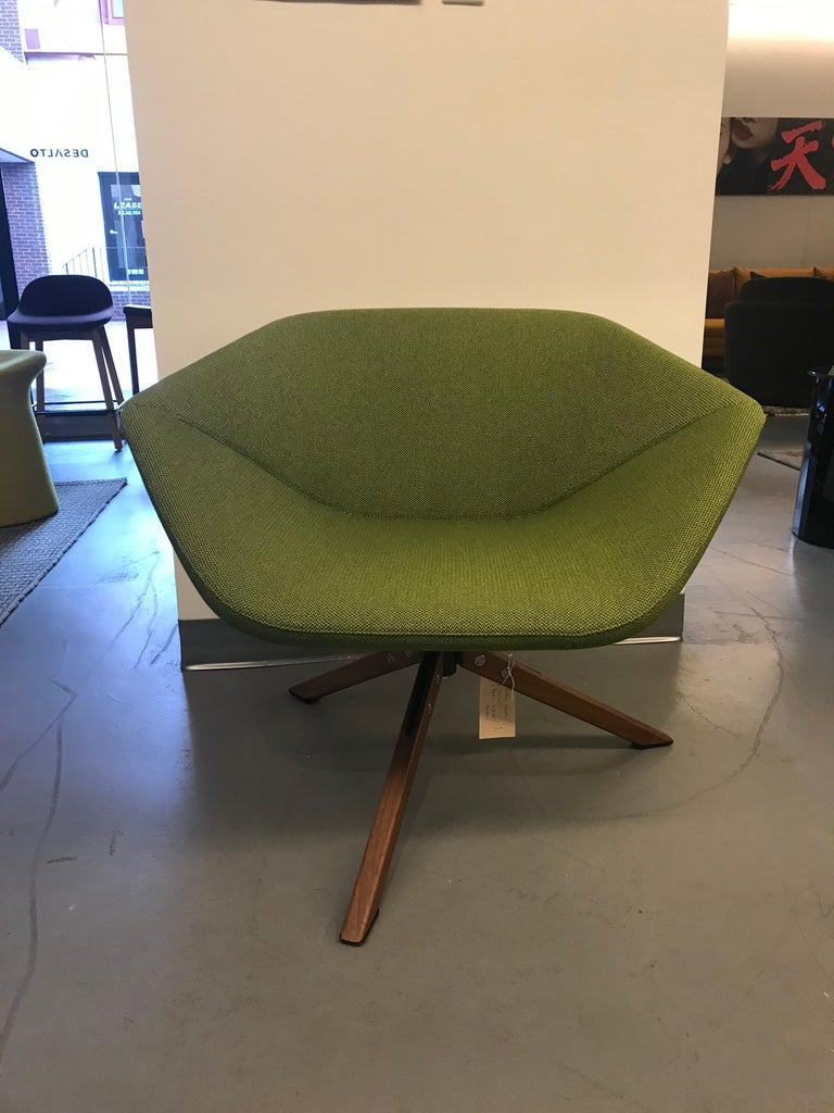 Fabric Montis Green Ella Chair For Sale