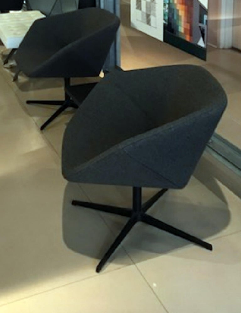 Dutch Montis Set of Two Swivel Lounge Ella Chairs For Sale