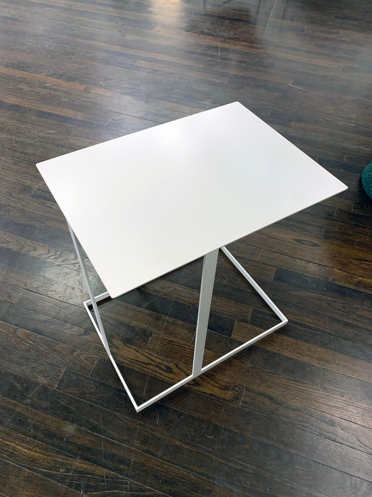Montis White Annex Multifunctional Side Table In Excellent Condition For Sale In New York, NY