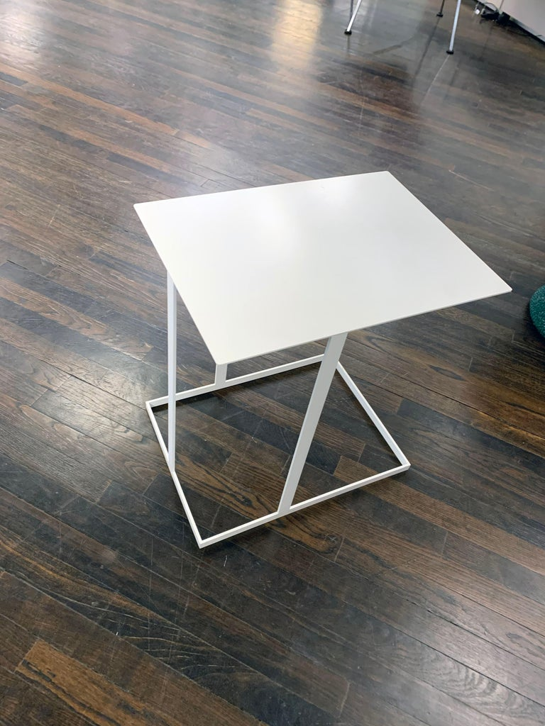 Metal Montis White Annex Multifunctional Side Table For Sale