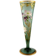Montjoye, France, Large Art Nouveau Vase in Mouth-Blown Art Glass, 1880-1900